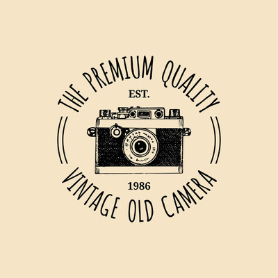 Photography logo.   vintage camera