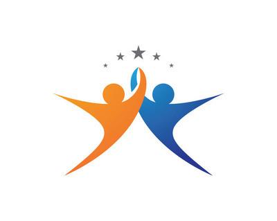 社区照顾的 Logo 模板矢量