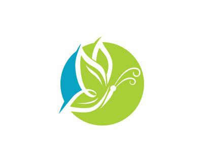 Butterfly  flower logo
