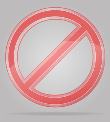透明的禁止标志矢量图