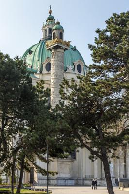 奥地利维也纳。karlskirkhe