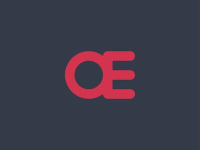 抽象首字母 Ae 或 Oe 徽标概念设计模板 ve