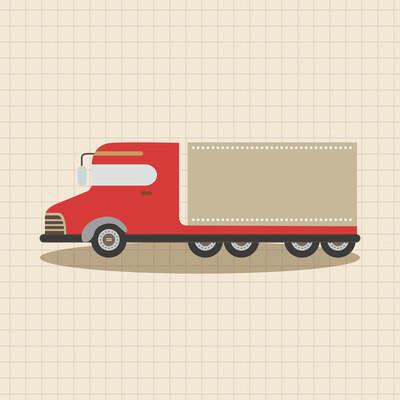 卡车的主题元素矢量、 eps 图标元素
