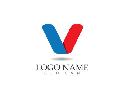 V logo 字母标志