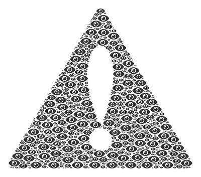 当心眼睛图标的符号图案