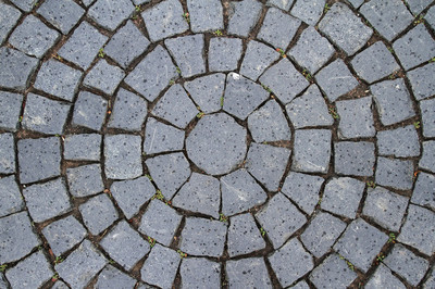 Pavement Circle Pattern Closeup