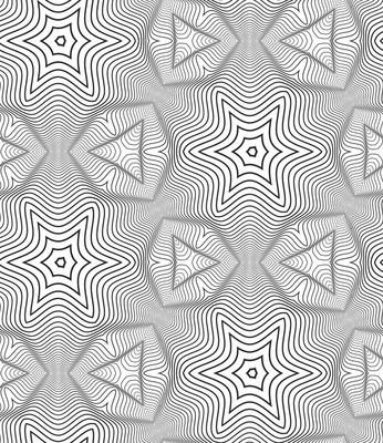 黑色和白色的欧普艺术设计