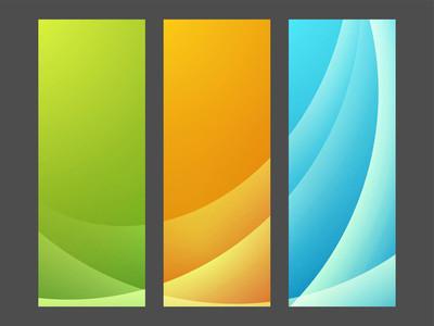 设置与抽象设计的网站横幅