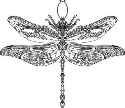 蒸汽朋克蜻蜓