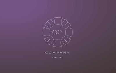 Ae d 会标花线艺术花信公司标志图标