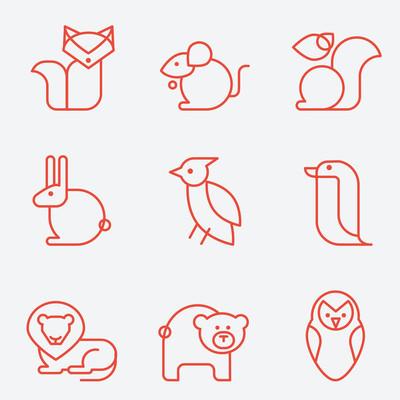 一套 9 动物图标