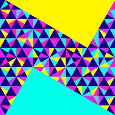 抽象的几何背景,霓虹灯孟菲斯风格
