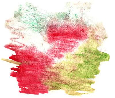 泼油漆绿色,红色的污点水彩颜色水墨隔离