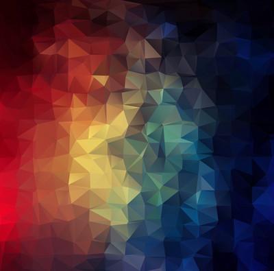 抽象的二维彩色三角形几何背景