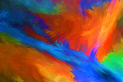 愤怒的河抽象绘画