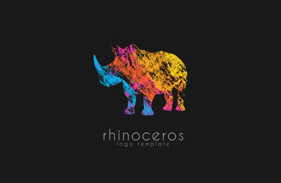 Rhino logo, Animal logo,Animal logo collection,Elements for brand identity, creative logo.