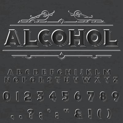 编写脚本标签和任何类型设计的字体字体 alcoholvintage 脚本字体 Vectortypeface