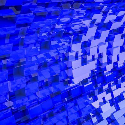dark blue convex cubes three-dimensional background. abstract illustration. 3d RENDERING