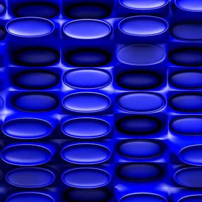 dark blue convex figures three-dimensional background. abstract illustration. 3d RENDERING