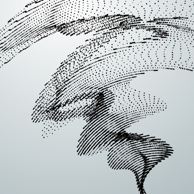 3d 抽象数字波