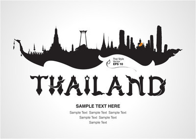泰国旅游设计、 矢量图