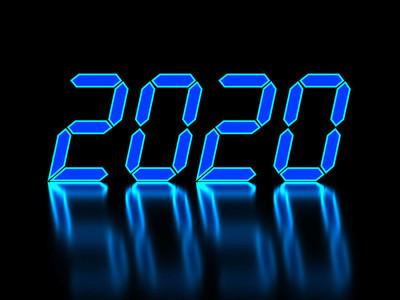 新的一年2020创意设计理念-3d 呈现形象