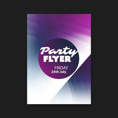 聚会传单或封面设计与抽象图案