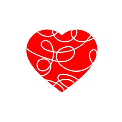 心在平面样式的图标