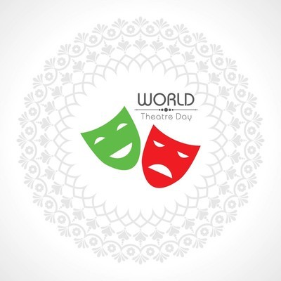 世界剧场日设计矢量插画