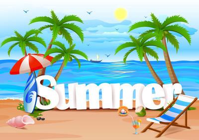 夏季壁纸背景