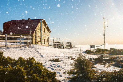 高山气象站冬季