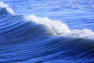 蓝色海岸波浪