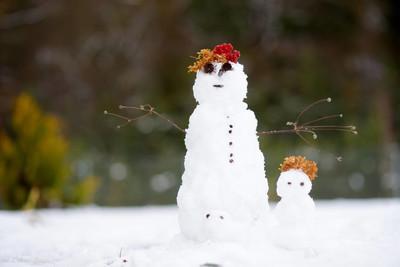 两个可爱的雪人