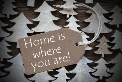 棕色圣诞标签与家在哪里你是