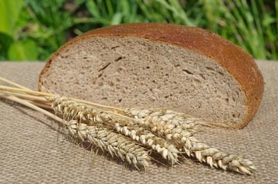 耳朵的黑麦和黑面包
