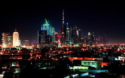 迪拜市中心夜景