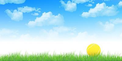网球天空背景