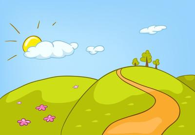 卡通自然风景