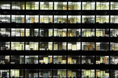 窗口的业务摩天大楼