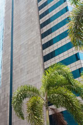 现代商业金融区的摩天大楼