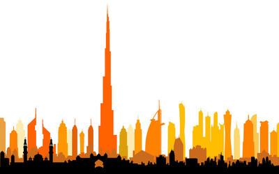 现代的摩天大楼矢量
