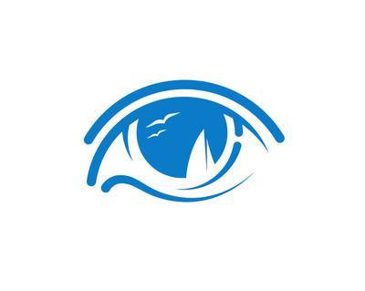 眼睛和船舶。创意图标