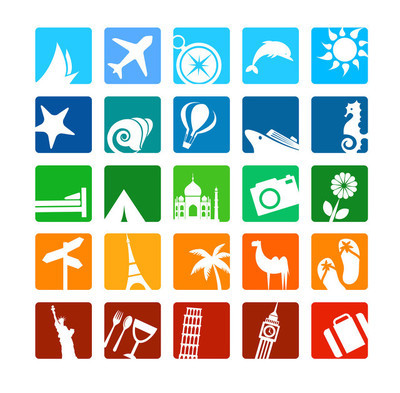 旅游和度假的图标