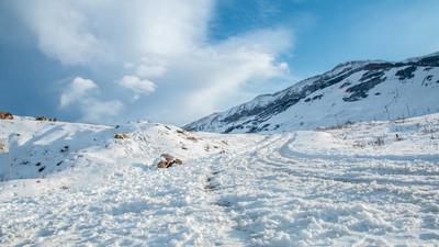 如画的风景的雪山