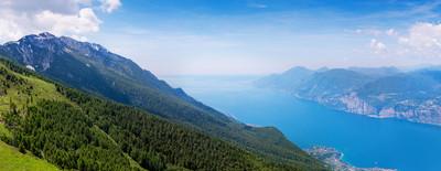 景色湖 Ga rda,意大利阿尔卑斯山