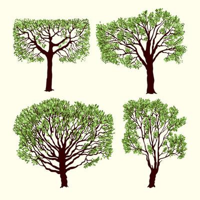 树木背景矢量图