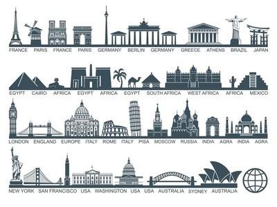 图标世界旅游景点