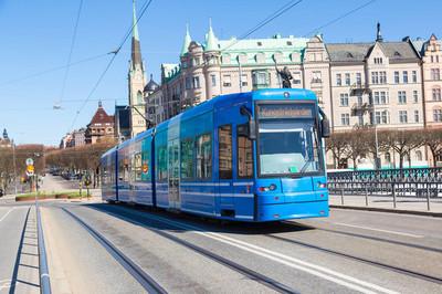 在斯德哥尔摩现代有轨电车
