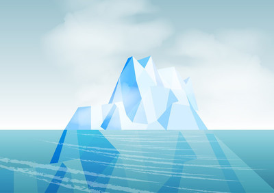冰山-矢量图