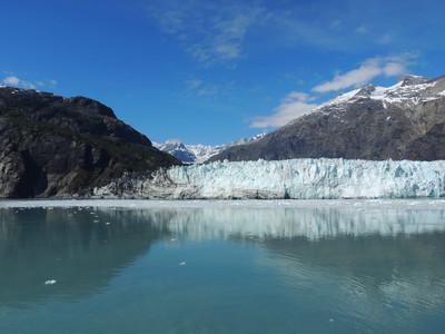 场景从阿拉斯加冰川湾